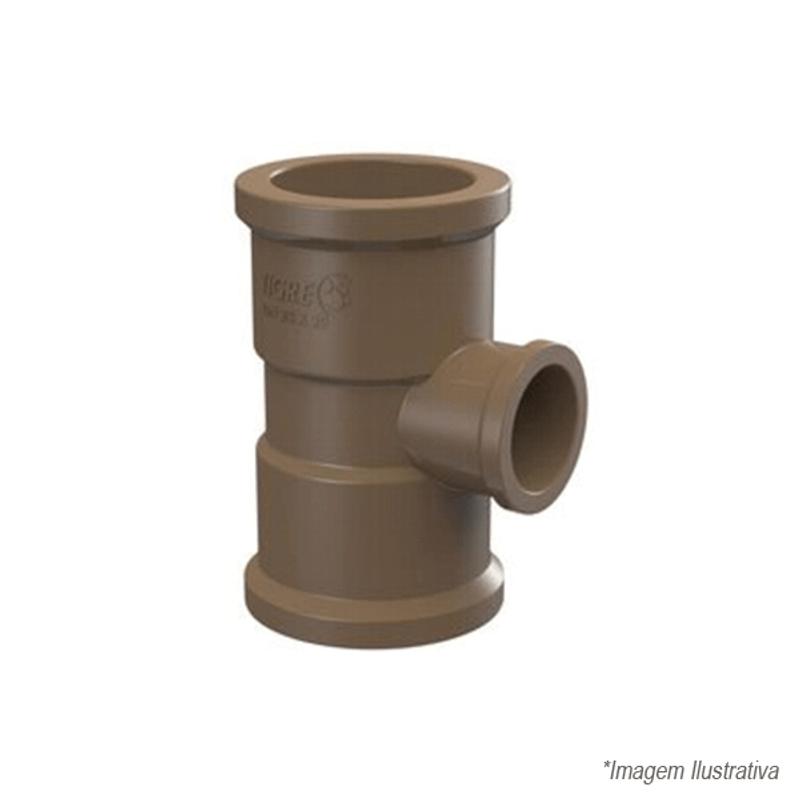 Tê 90º de Redução PVC Soldável | 75x60mm | 2.1/2