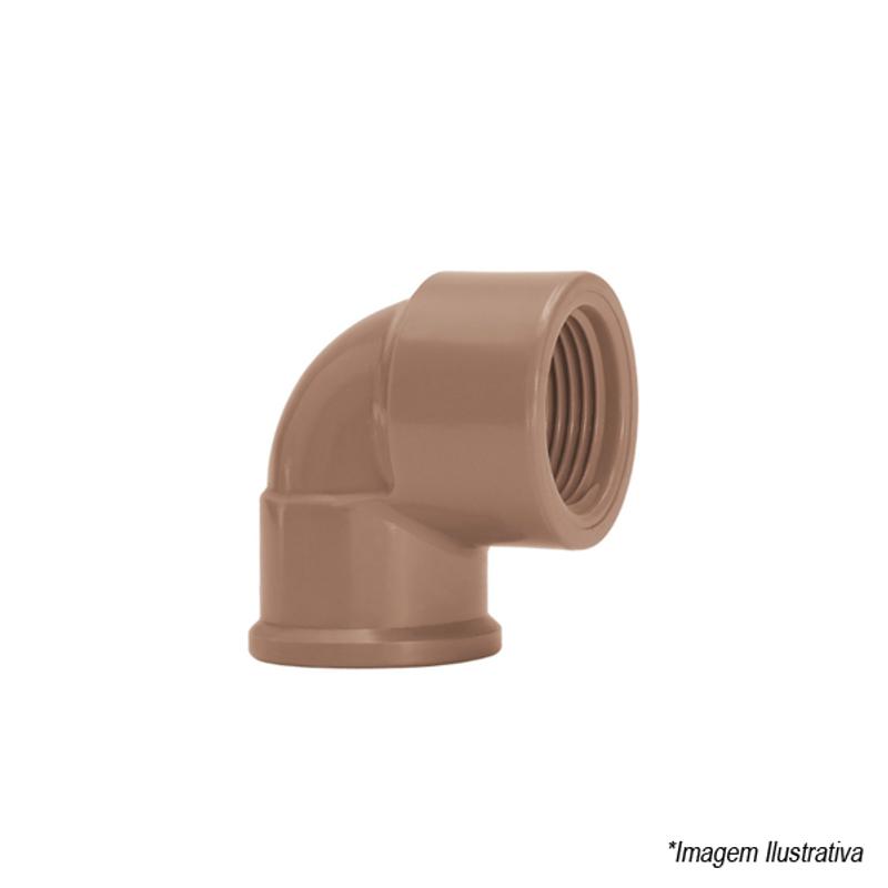 Joelho 90º PVC Soldável | Solda 25mm e Rosca 3/4