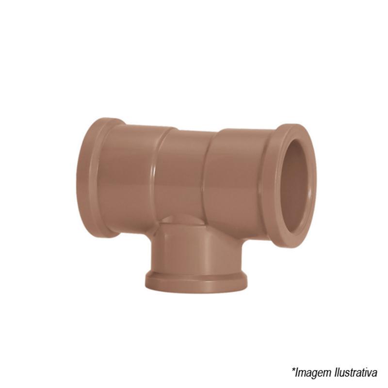 Tê de Redução PVC Soldável 75x60mm | 2.1/2
