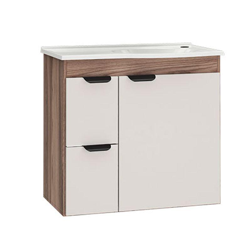 Gabinete para Banheiro sem Espelheira Margarida 60cm Nude - Cozimax