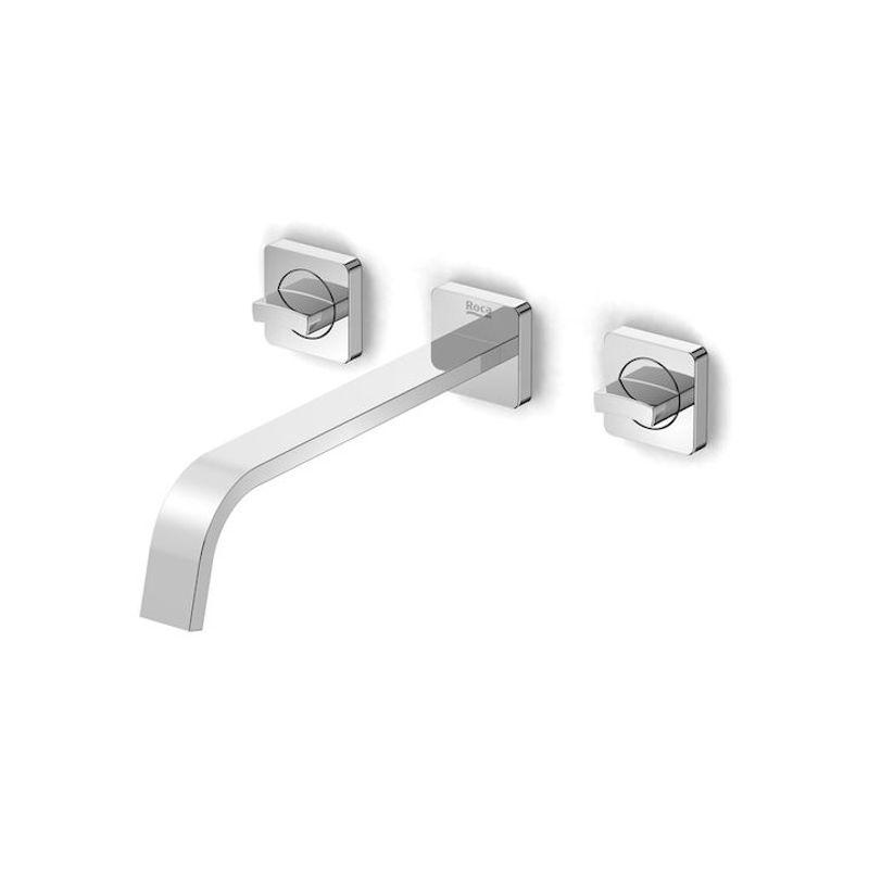 Misturador de Banheiro Para Lavatório de Parede Cromado Virtus A5A459DC0C - Roca