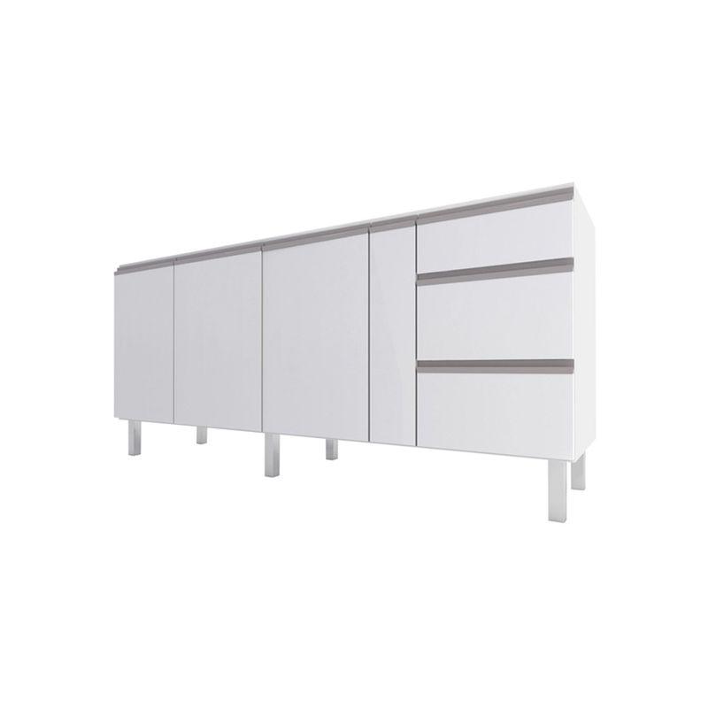 Gabinete para Cozinha Aço Gaia Flat 1,80m Branco - Cozimax