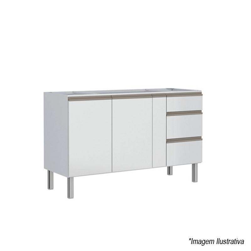 Gabinete para Cozinha Aço Gaia Flat 1,50m Branco - Cozimax